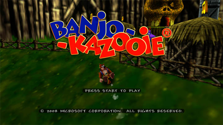 Banjo-Kazooie title screen (Xbox One version)