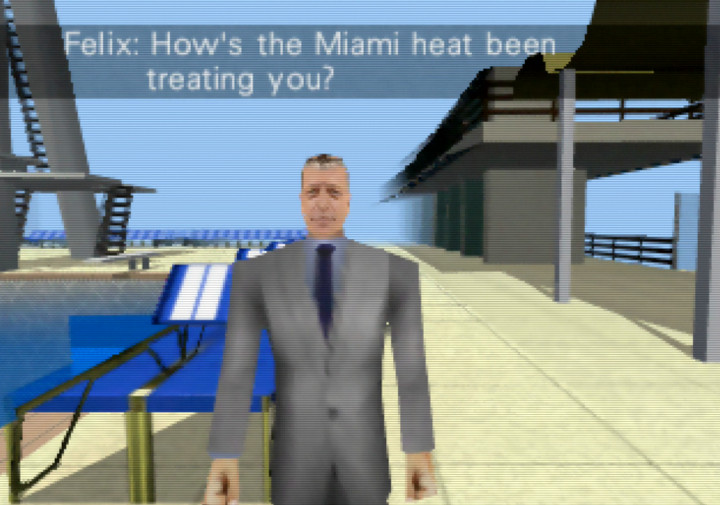 Felix Leiter in N64 game mod Goldfinger 64