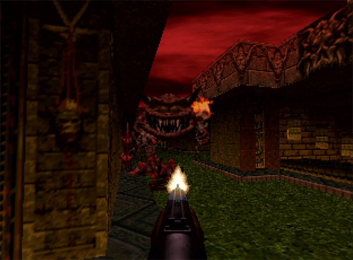 A Cacodemon in Doom 64 for N64.
