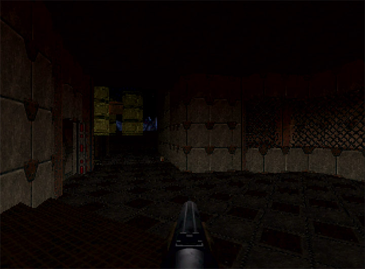 The first level in Doom 64 for N64.
