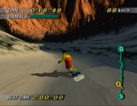 Golden Forest track from 1080 Snowboarding for N64