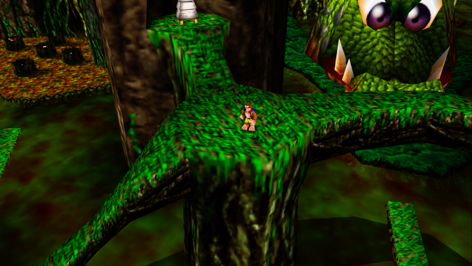 Bubblegloop Swamp, as seen in Banjo-Kazooie Xbox 360 version