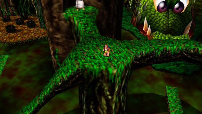 Bubblegloop Swamp, as seen in Banjo-Kazooie Xbox 360 version