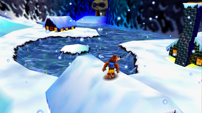 Freezeezy Peak, as seen in high definition in Banjo-Kazooie Xbox 360 version