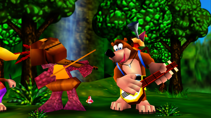 Banjo Kazooie Xbox 360 version musical intro
