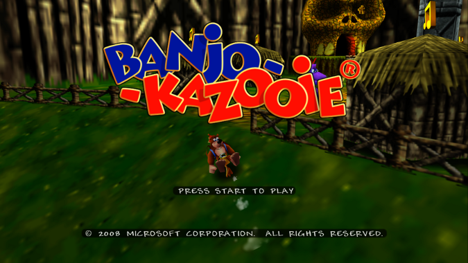 Banjo-Kazooie Xbox 360 version title screen