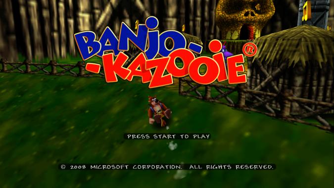 Banjo-Kazooie Xbox 360 version title screen