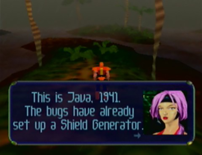 The Java 1941 level from Body Harvest for N64