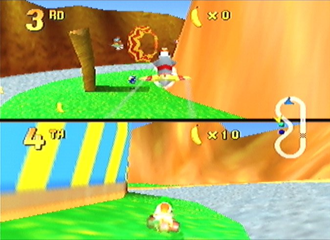 Diddy Kong Racing multiplayer race