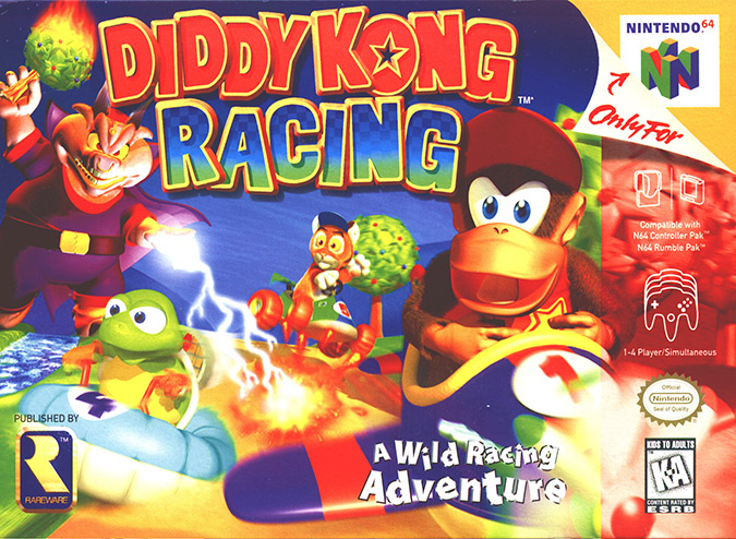 Diddy Kong Racing N64 box art