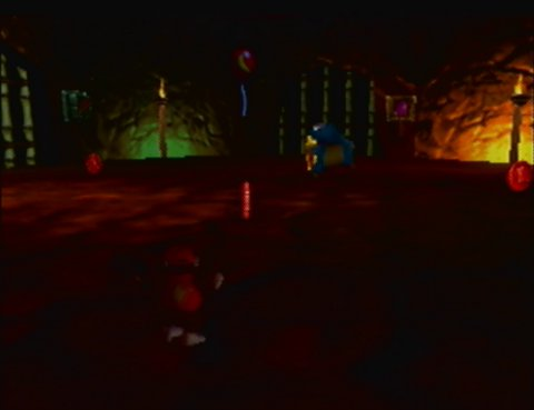 Diddy Kong exploring Jungle Japes in Donkey Kong 64