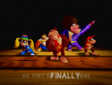 The DK Crew in Donkey Kong 64
