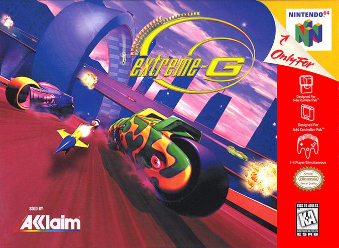 Extreme-G box art (Nintendo 64 version)