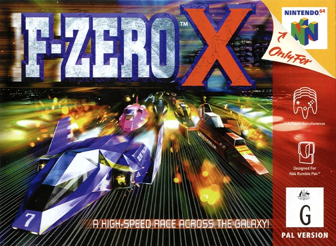 F-Zero X N64 box art (NTSC version)