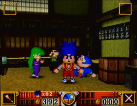 Goemon's Great Adventure tea room (N64)