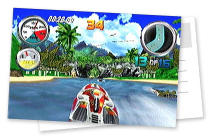 Lost Island track from Hydro Thunder (N64)