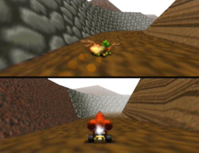 Choco Mountain track in Mario Kart 64