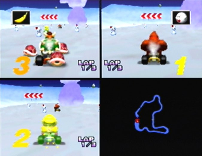 Frappe Snowland in Mario Kart 64