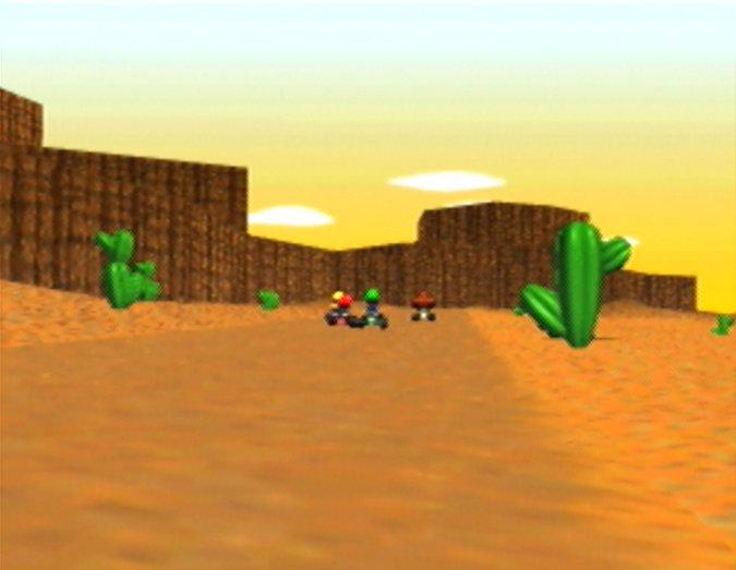 Kalimari Desert in Mario Kart 64