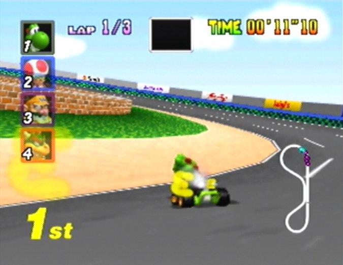 Luigi Raceway in Mario Kart 64
