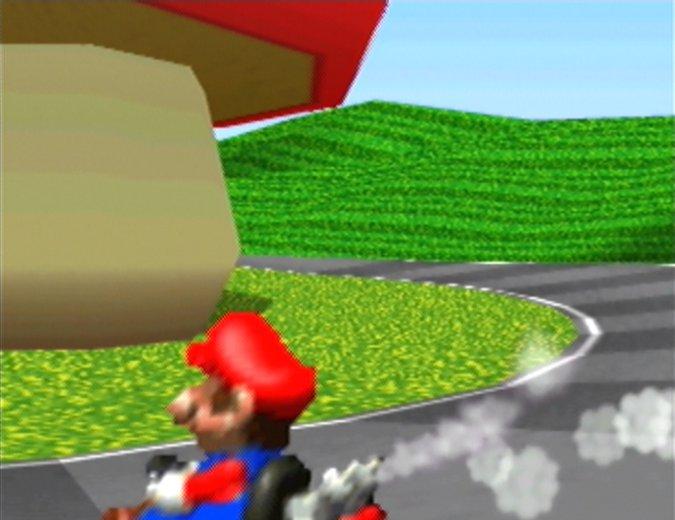 Mario Raceway track in Mario Kart 64