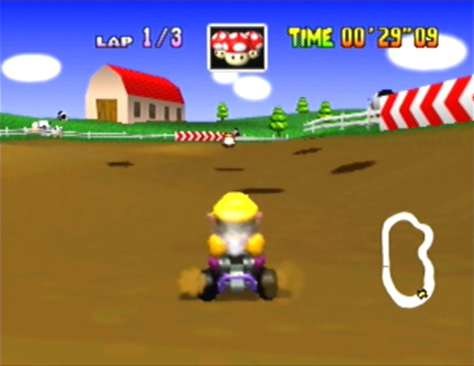 Moo Moo Farm from Mario Kart 64
