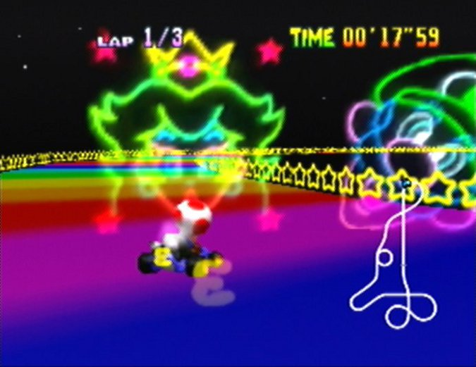 Rainbow Road from Mario Kart 64