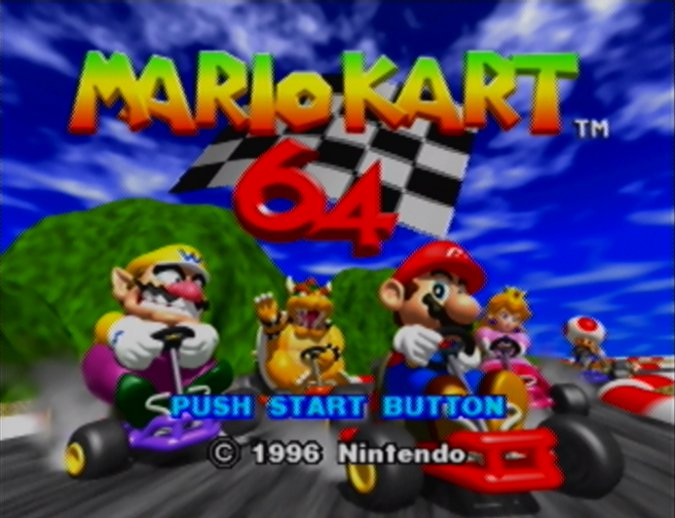 Mario Kart 64 title screen