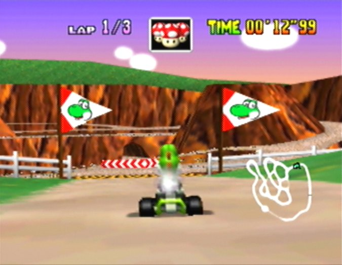 Yoshi Valley from Mario Kart 64