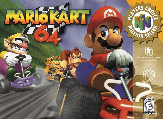 Mario Kart 64 NTSC box art