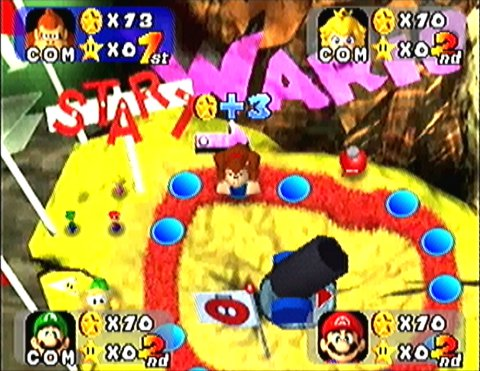 Wario's Battle Canyon board in Mario Party N64