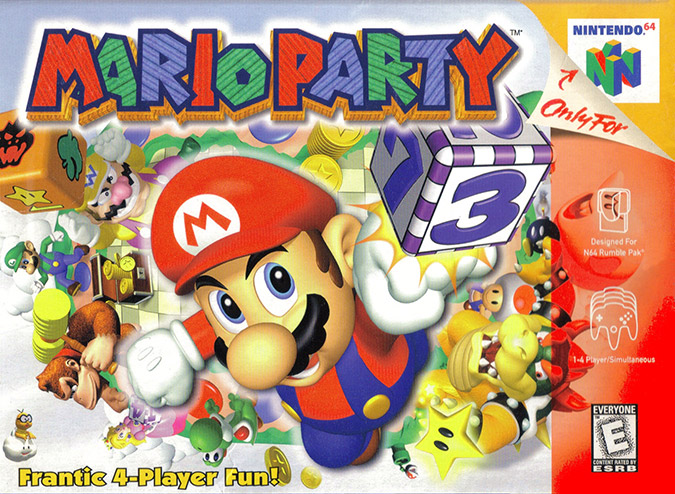 Mario Party 1 (N64) NTSC box art