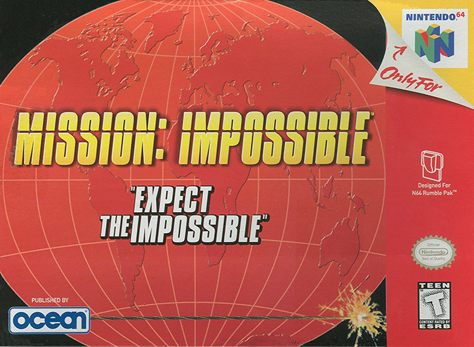 Mission Impossible N64 box art - NTSC version