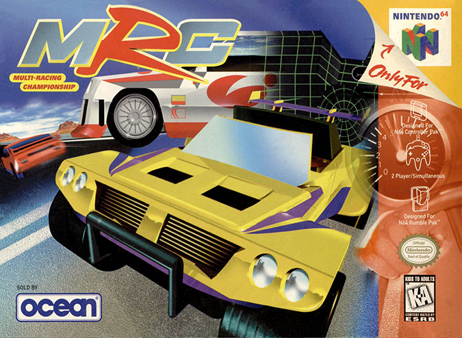 MRC Multi Racing Championship NTSC N64 box art cover
