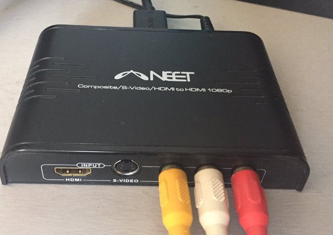 NEET composite to HDMI video converter