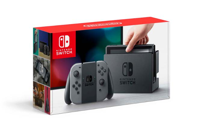 Nintendo Switch console in retail box - grey colour