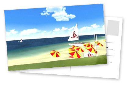 Holiday Island beach in Pilotwings 64