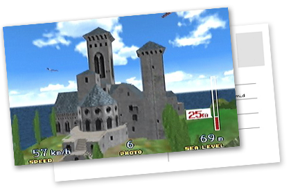 Pilotwings 64 Holiday Island castle