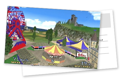 Holiday Island's fun fair in Pilotwings 64