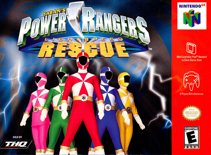 Power Rangers Lightspeed Rescue NTSC box art