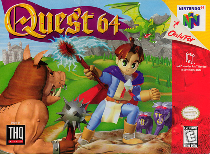 Quest 64 NTSC, one of the worst N64 box art covers
