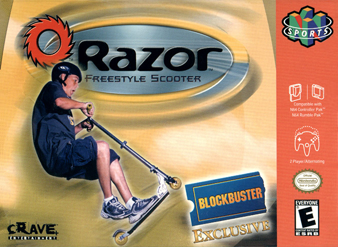 Razor Freestyle Scooter N64 NTSC box art