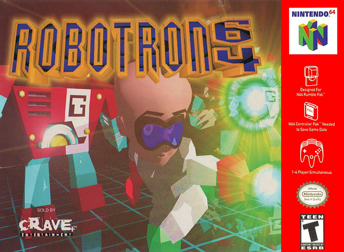 Robotron 64 NTSC box art