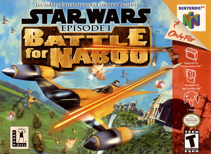 Star Wars: Episode 1 - Battle for Naboo N64 box art