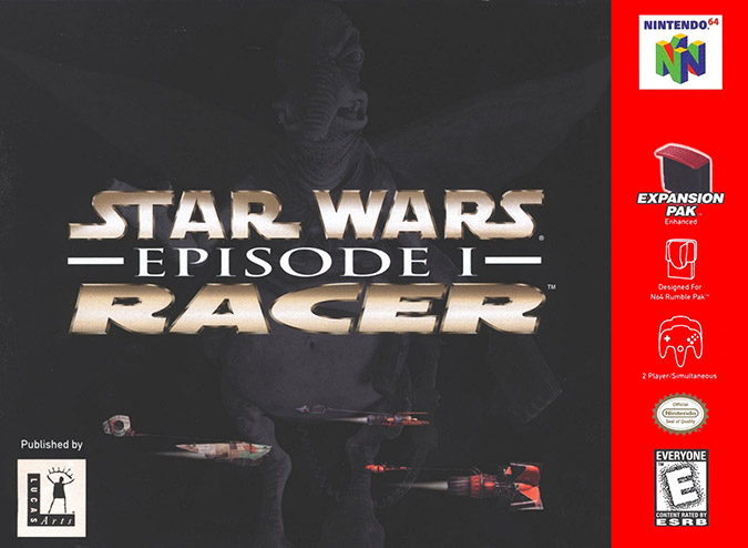 Star Wars Episode 1: Racer N64 box art (NTSC version)