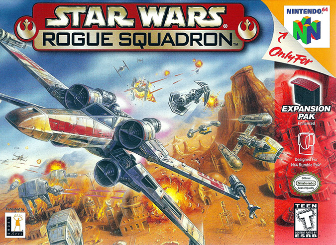 Star Wars: Rogue Squadron N64 box art (NTSC)