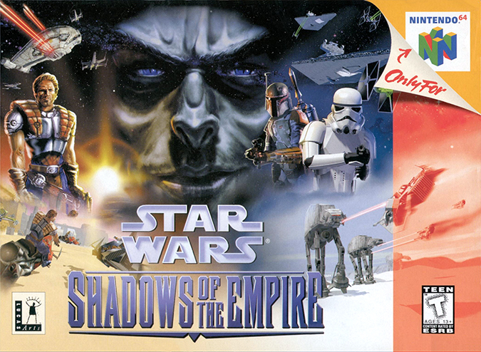 Star Wars: Shadows of the Empire N64 box art (NTSC)