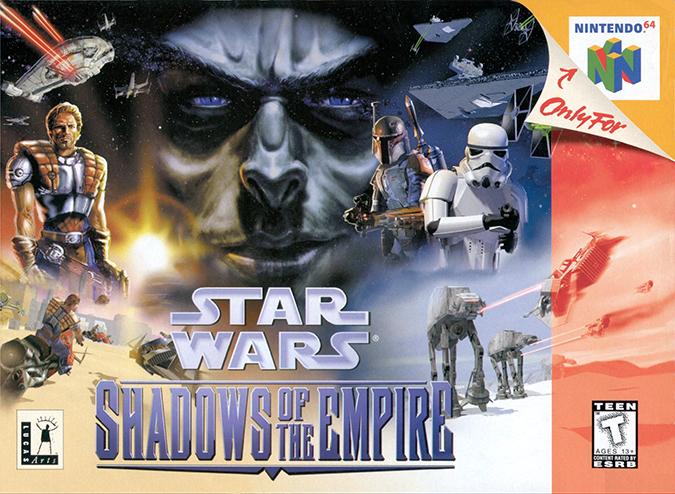 Star Wars: Shadows of the Empire N64 box art (NTSC)