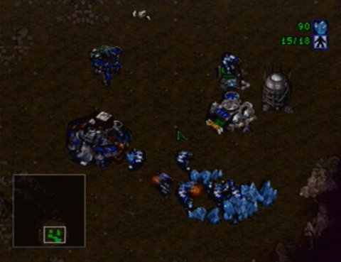 Building a Terran base in Starcraft 64