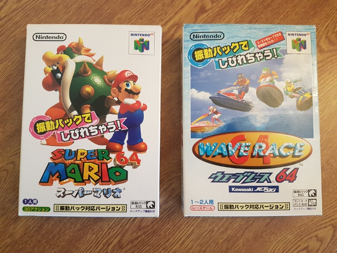 Super Mario 64 Shindou Edition and Wave Race 64 Shindou Edition